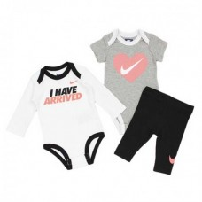 NIKE LS AND SS BODYSUITS W LEGGING BEBEK ZIBIN 3LÜ SET
